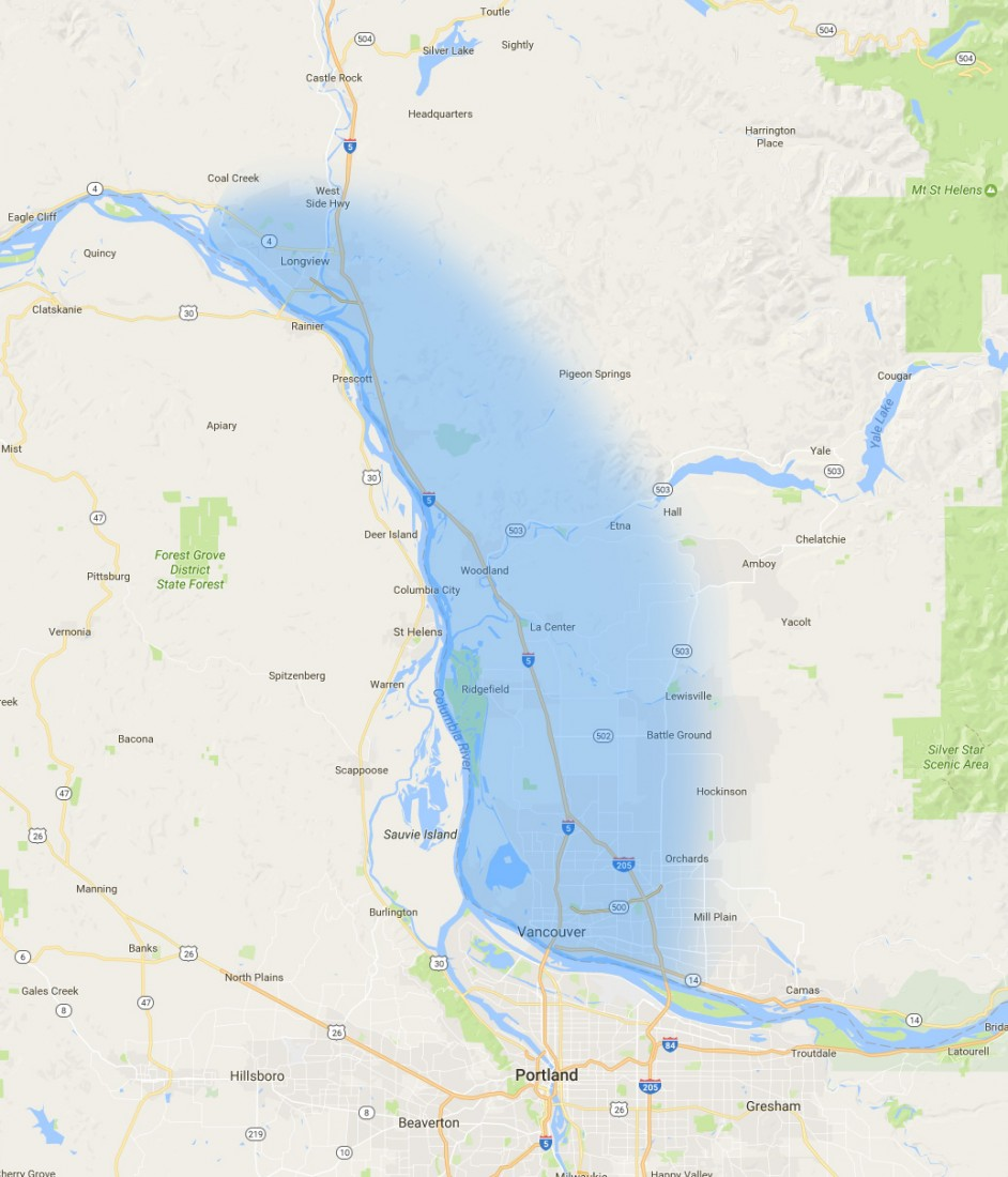 Contact Grant Roofing & Pressure Washing - Battle Ground WA - map